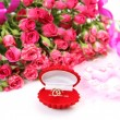 Pink roses and ring — Stock Photo #59976045