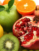 Ripe bright fruits — Stock Photo