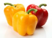 Group of colored bell peppers — Stock Photo
