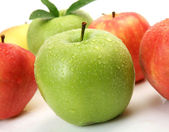 Green and red apples — Stock Photo