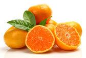 Ripe oranges fruits — Stock Photo