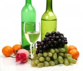 Ripe fruits and wine — Foto de Stock