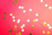 Stars on a red background — Stock Photo