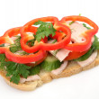 Sandwich with vegetables — Stock Photo #61604927
