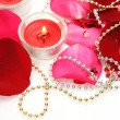 Petals of roses and candles — Stock Photo #61605275