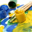 Paints and brushes — Stock Photo #61605797