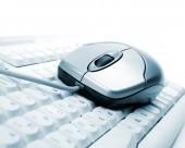 Počítačové myši a klávesnice — Stock fotografie
