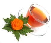 Tea and flower — Stock Photo