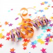 Colorful Party  confetti, ribbons — Stock Photo #65598359