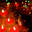 Christmas ornaments and candles — Stock Photo #65601013