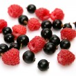 Ripe currants and raspberries — Stock Photo #67819409