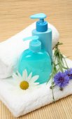 Subjects for a shower with flowers — Stock Photo