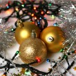 Different new year decorations — Stock Photo #70823347