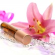 Oil and lily flower — Stock Photo #70822965
