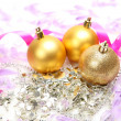 New Year's spheres and ribbons — Stock Photo #70823149