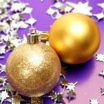 New Year's golden spheres — Stock Photo #70823153