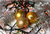 Different new year decorations — Zdjęcie stockowe