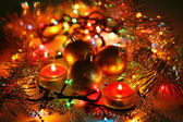 Different new year decorations — Stock Photo