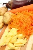 Fresh cutting vegetables — Stock Photo