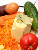 Fresh cutting foodstuffs — Stock Photo