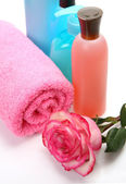 Subjects for a shower with flower — Stock Photo