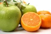 Fresh fruit on white — Stock Photo