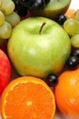 Fresh fruits on white — Stock Photo