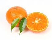Fresh tangerine on white — Stock Photo