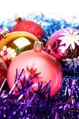 Bolas de Navidad decorativos — Foto de Stock