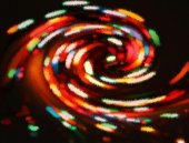 Blurred Christmas lights — Stock Photo