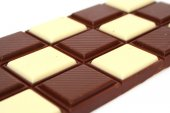 Black and white chocolate — Stock Photo