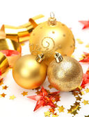 Christmas tree balls decoration — Stock Photo