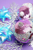 Decorative New Year spheres — Stock Photo