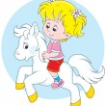 Little rider — Stock Vector #52321101