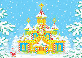 Santa Claus house — Stock Vector