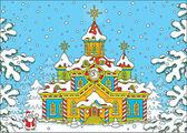 Santa Claus house — Stock Vector