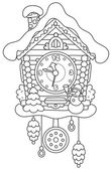 Christmas Cuckoo-Clock — Stock Vector