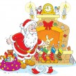Santa with gifts — Stock Vector #54745609