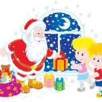 Santa and kids — Stock Vector #57925325