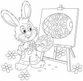 Easter Bunny painter — Stock Vector