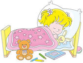 Girl sleeping — Stock Vector
