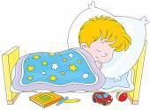 Boy sleeping — Stock Vector