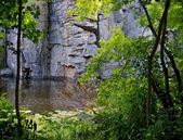River channel among rocks — Stock Photo