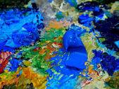 Paints of artist — Stock Photo