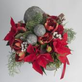 Christmas bouquet with decorations — Zdjęcie stockowe