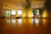 Empty hall with flowerpots — Stockfoto