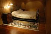 Schlafzimmer-Interieur in Loft-Wohnung — Stockfoto