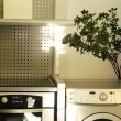 Oven and washing machine — Stock Photo #64825307