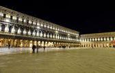 Piazza San Marco at night — Stock Photo