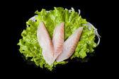 Perch sashimy — Stock Photo